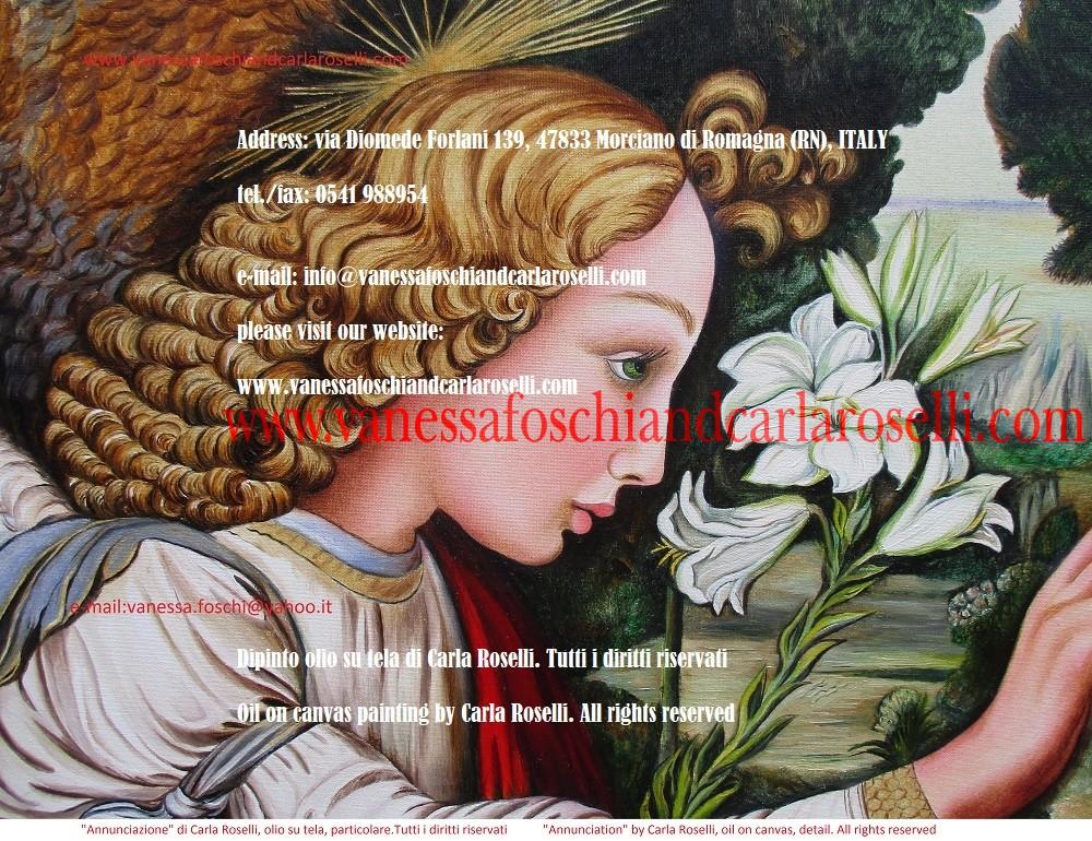 Annunciazione, dipinto olio su tela di Carla Roselli