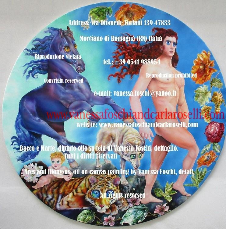 Ares, mitologia greca, Vanessa Foschi, pittore