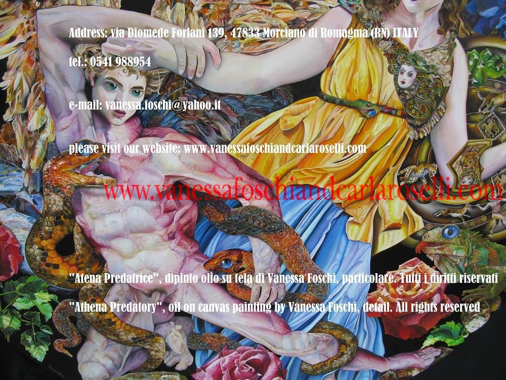Athena Predatory, Atena Predatrice (Alcioneo), dipinto olio su tela di Vanessa Foschi, particolare- Athena Predatory (Alcyoneus) , oil on canvas painting by Vanessa Foschi, detail 15