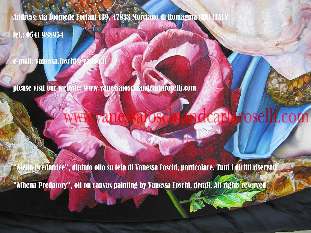 Athena Predatory, Atena Predatrice (Alcioneo), dipinto olio su tela di Vanessa Foschi, particolare- Athena Predatory (Alcyoneus) , oil on canvas painting by Vanessa Foschi, detail26