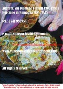 Athena, Athena Predatory, Atena. Atena Predatrice, dipinto olio su tela di Vanessa Foschi
