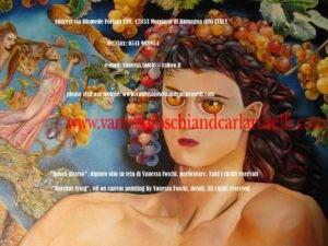 Myths, greco-roman mythology, in the paintings of italian paintress Vanessa Foschi, born in Rimini