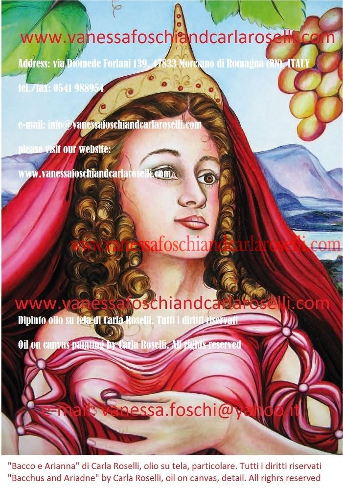 Bacco e Arianna, olio su tela di Carla Roselli- Bacchus and Ariadne, oil on canvas by Carla Roselli