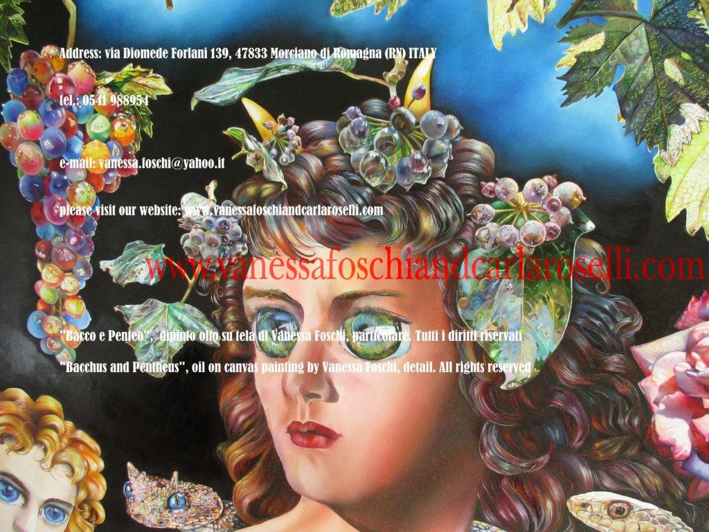 Bacco e Penteo, dipinto olio su tela di Vanessa Foschi - Bacchus and Pentheus, oil on canvas painting by Vanessa Foschi