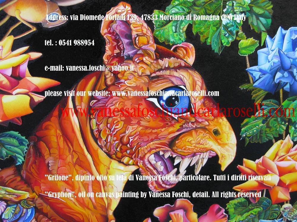 Grifone, dipinto olio su tela di Vanessa Foschi- Griffon, peinture à l'huile sur toile de Vanessa Foschi- γρύπας - Gryphon, oil on canvas painting by Vanessa Foschi