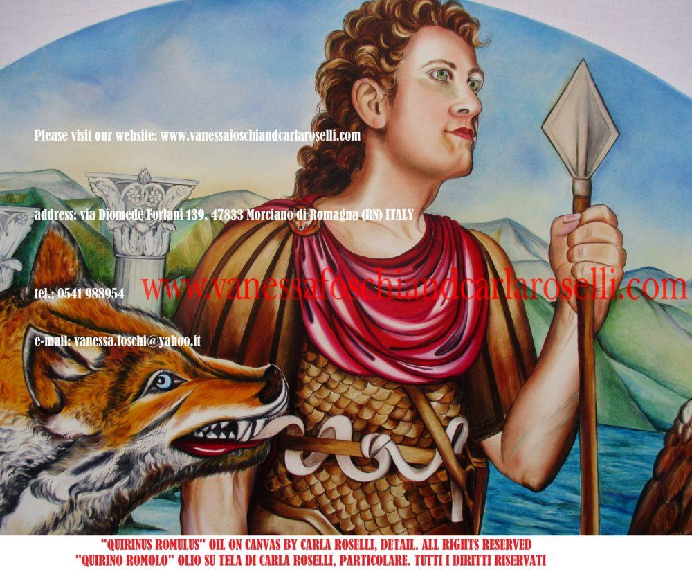 Quirinus Romulus Quirino Romolo, primo re di Roma
