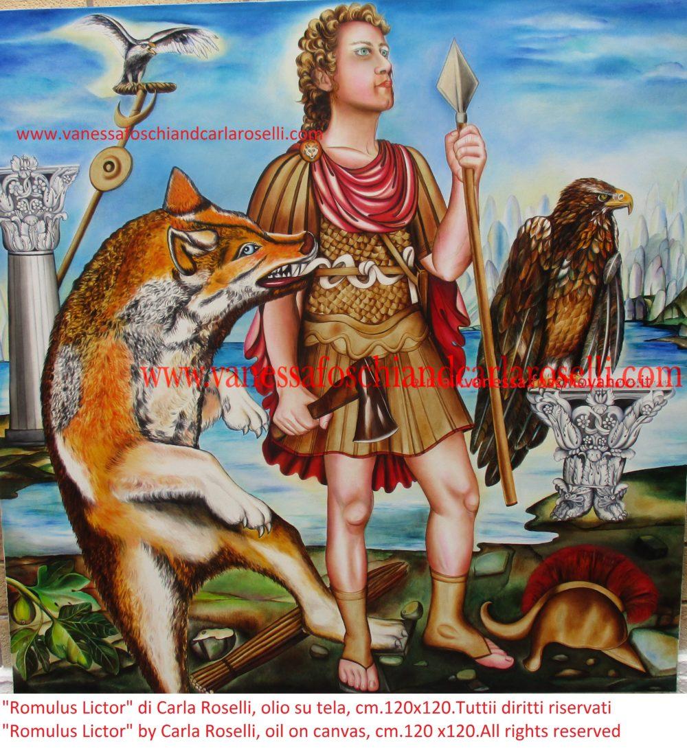 Lictor Romulus Romolo Littore, dipinto olio su tela di Carla Roselli