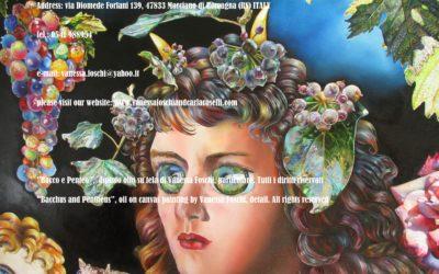 Bacco e Penteo di Vanessa Foschi, olio su tela, particolare. Tutti i diritti riservati.