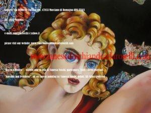 Bacco e Penteo, di Vanessa Foschi, olio su tela, particolare. Tutti i diritti riservati.