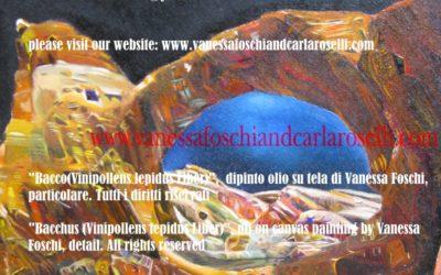 Bacco di Vanessa Foschi, olio su tela, particolare. Tutti i diritti riservati