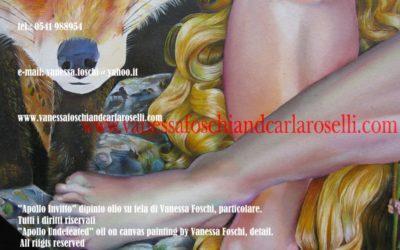 Gods, Apollo Invitto di Vanessa Foschi, olio su tela, particolare. Tutti i diritti riservati