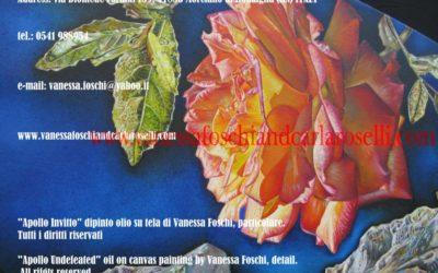 Gods, Apollo Invitto, di Vanessa Foschi olio su tela, particolare. Tutti i diritti riservati.