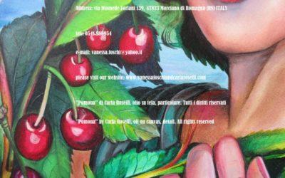 Gods, Pomona di Carla Roselli, olio su tela, particolare, Tutti i diritti riservati