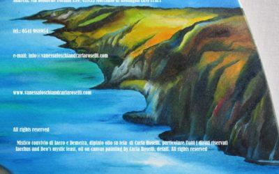 Gods, Mistico convivio di Iacco e Demetra, olio su tela di Carla Roselli, particolare. Tutti i diritti riservati