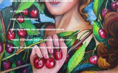 Gods - Pomona, di Carla Roselli, olio su tela, particolare. Tutti i diritti riservati