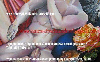 Antichi dei . Porfirione re dei Giganti di Vanessa Foschi,olio su tela particolare.Tutti i diritti riservati.