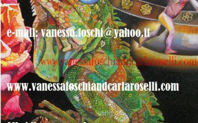 Gods, Atena Predatrice di Vanessa Foschi, olio su tela, particolare. Tutti i diritti riservati.