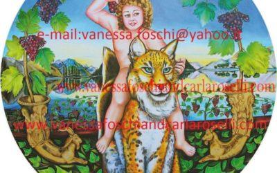 Gods - Little Dionysus as painted by Carla Roselli-Dei greco-romani: il piccolo Dioniso dipinto da Carla Roselli