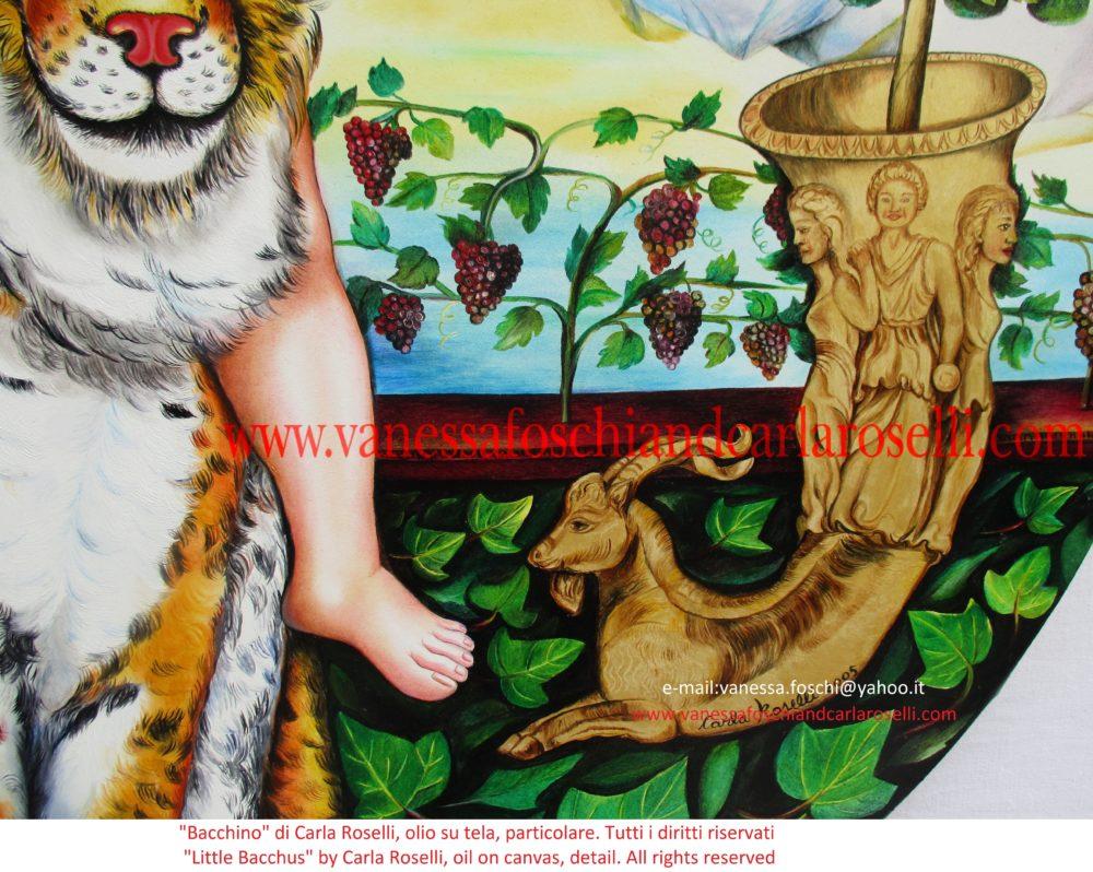 Gods little Dionysus- Dei Piccolo Dionido, dipinto da Carla Roselli