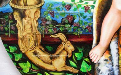 Gods, Bacchino di Carla Roselli, olio su tela, particolare. Tutti i diritti riservati