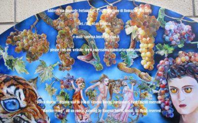 Bacco disteso, dipinto olio su tela di Vanessa Foschi, Menadi - Bacchus lying, oil on canvas painting by Vanessa Foschi , Maenads
