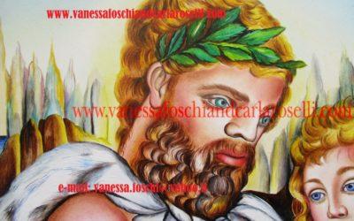 Chirone e Achille, olio su tela di Carla Roselli- Chiron and Achilles, oil on canvas by Carla Roselli, ITALY 4