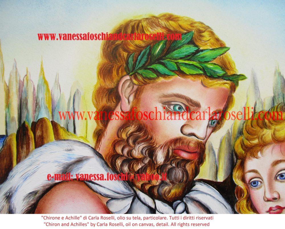 gods Chirone e Achille, nel dipinto di Carla Roselli