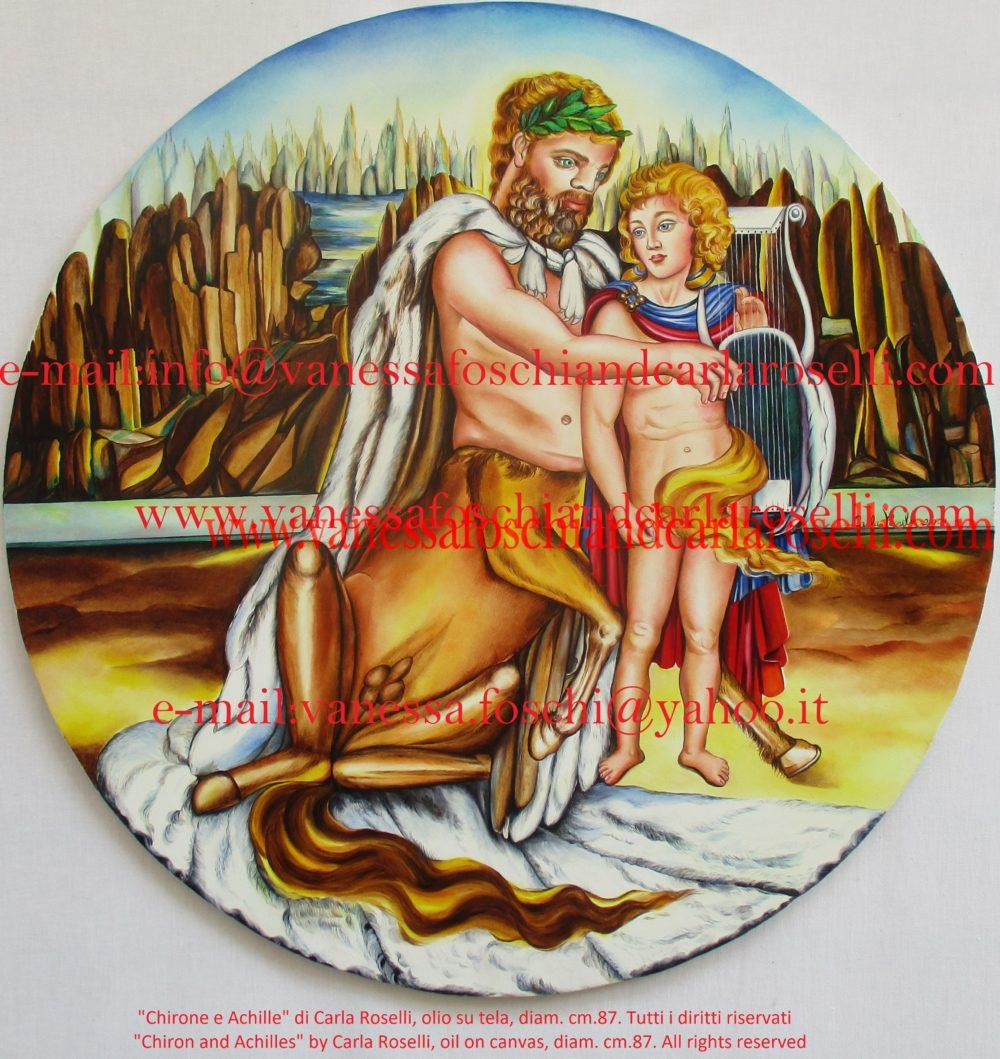 gods - Chiron, son of Cronus and Achilles, son of Peleus