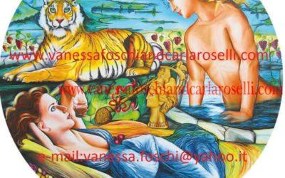 gods : the awakening of Ariadne, as painted by Carla Roselli