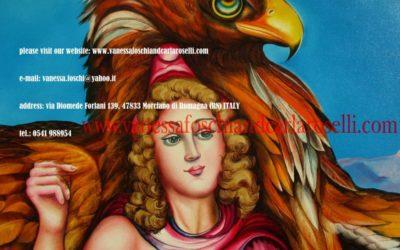 Gods lascesa di Ganimede di Carla Roselli olio su tela particolare
