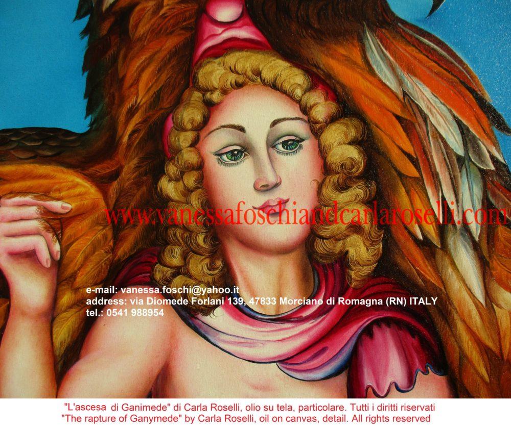 gods Zeus and Ganymede, beautiful prince-shepherd