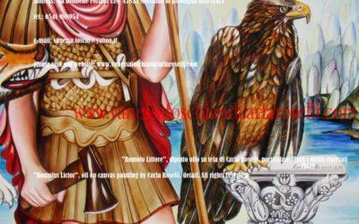 Romolo di Carla Roselli, dipinto olio su tela particolare.Tutti i diritti riservati.