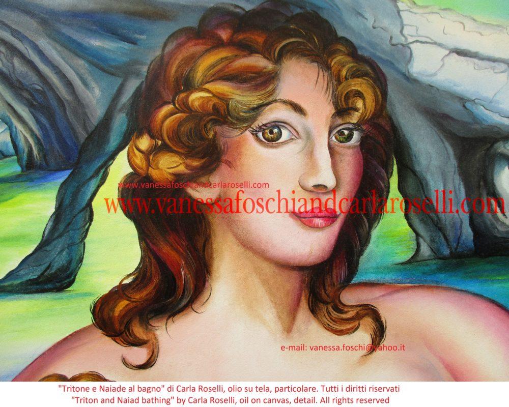 gods - Tritone e Naiade al bagno, dipinto olio su tela di Carla Roselli