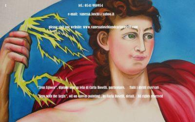 Zeus, god of the thunderbolt, as painted by Carla Roselli -Zeus, dieu du tonnerre, peinture à l'huile sur toile de Carla Roselli