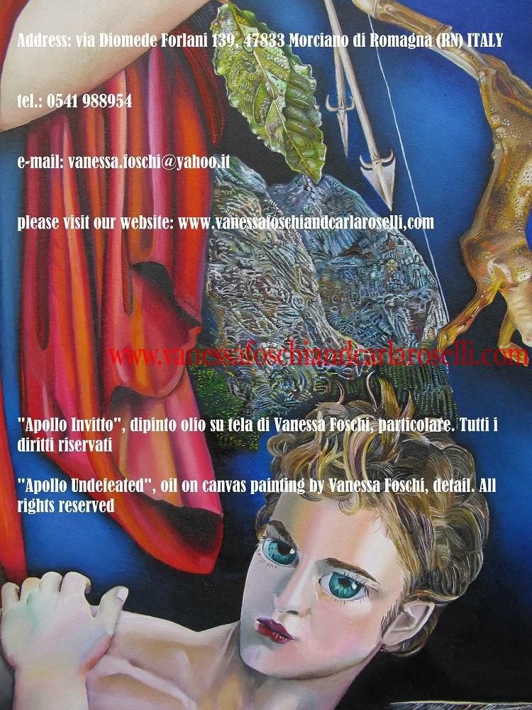 dio, dio arciere, god, archer god, greek god, Apollo, Phoebus, oil on canvas by Vanessa Foschi