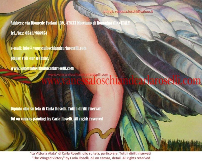 La Vittoria Alata, olio su tela di Carla Roselli - La victoire ailée, peinture à l'huile sur toile de Carla Roselli