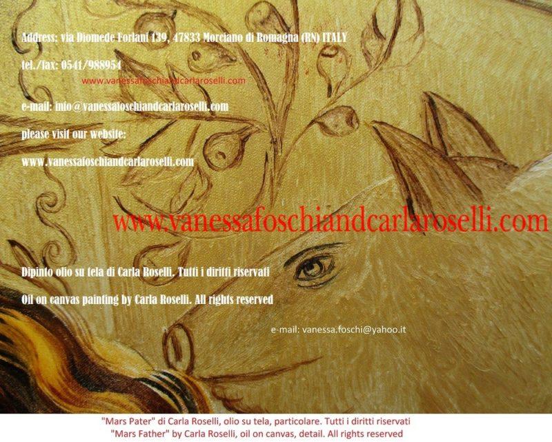 Mars Pater, dipinto olio su tela di Carla Roselli, scrofa di Alba Longa