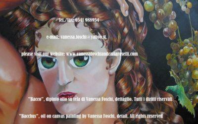 BACCO, SIGNORE DELLA VITE Vanessa Foschi qui raffigura il più giocondo degli dei olimpici, salutato da Plauto nel