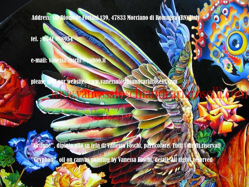 ali del mitico grifone nel dipinto di Vanessa Foschi