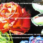 """Rosa dipinta in """"Grifone"""", olio su tela di Vanessa Foschi"""