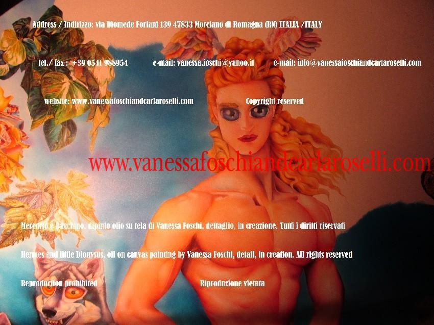 Hermes, datore di cose buone, dipinto di Vanessa Foschi, in creazione - Hermes, giver of good things, artwork by Vanessa Foschi