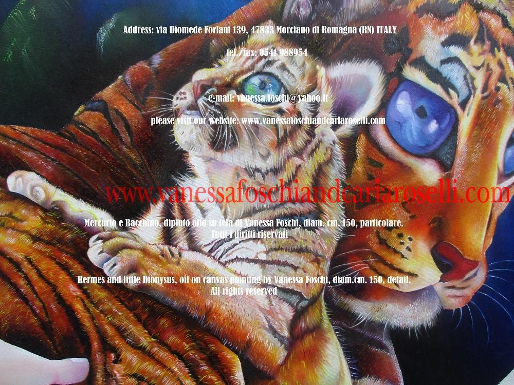 Mercurio e piccolo Bacco di Vanessa Foschi, tigri