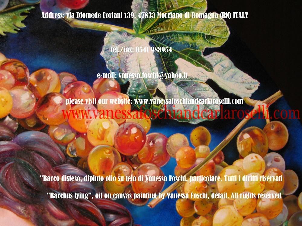 Bacchus détendu, peinture à l'huile sur toli de Vanessa Foschi