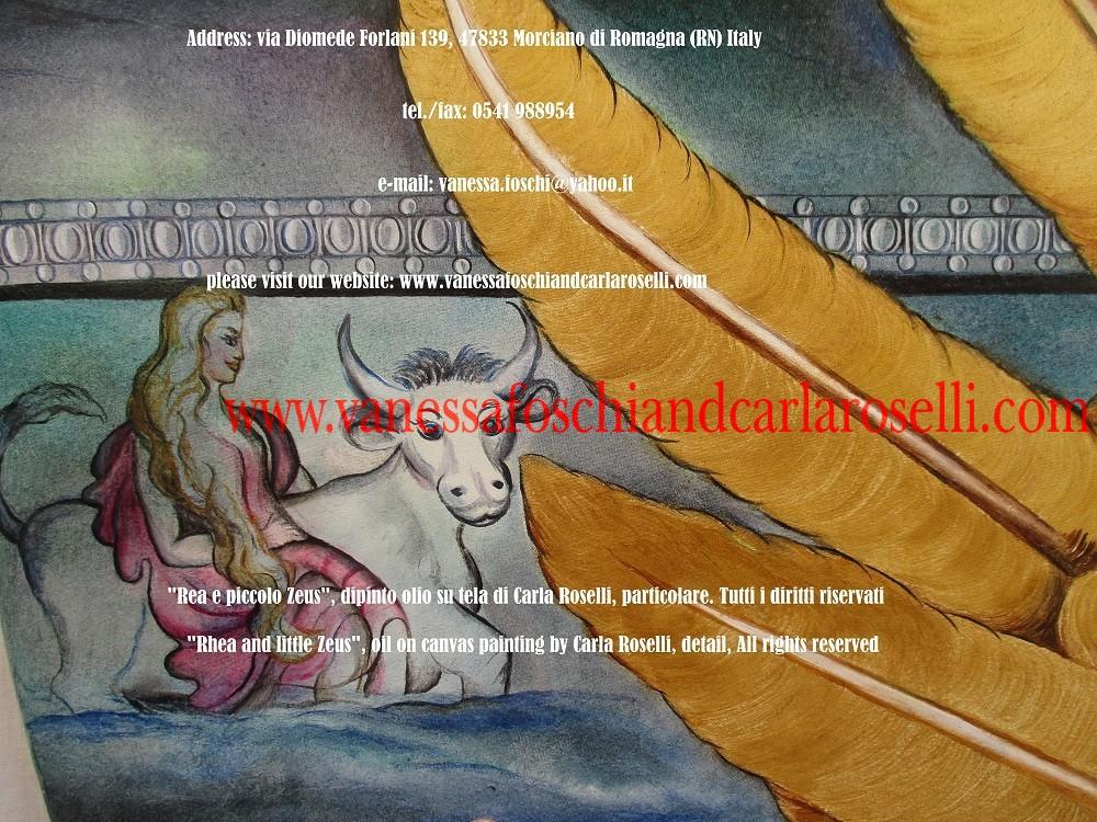Sul fregio è intarsiata un' impresa di Zeus adulto, la traversata dalla Fenicia a Creta in forma di toro. La principessa Europa si aggrappa sulla sua groppa. Dall'unione tra i due nascerà la dinastia di Minosse, che stabilì la supremazia sul mare e il dominio sulle isole, assoggettando a tributo di sangue umano persino Atene.