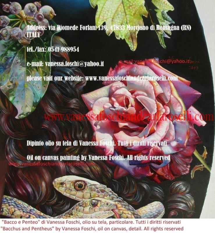 Bacco e Penteo - Βάκχος - Διόνυσος - Bacchus et Penthée, peinture à l'huile sur toile de Vanessa Foschi