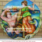 Ecate, dipinto olio su tela di Carla Roselli, diam. cm. 120- Εκάτη - Hécate, peinture à l'huile sur toile de Carla Roselli- Hecate, oil on canvas by Carla Roselli, diam. cm.120
