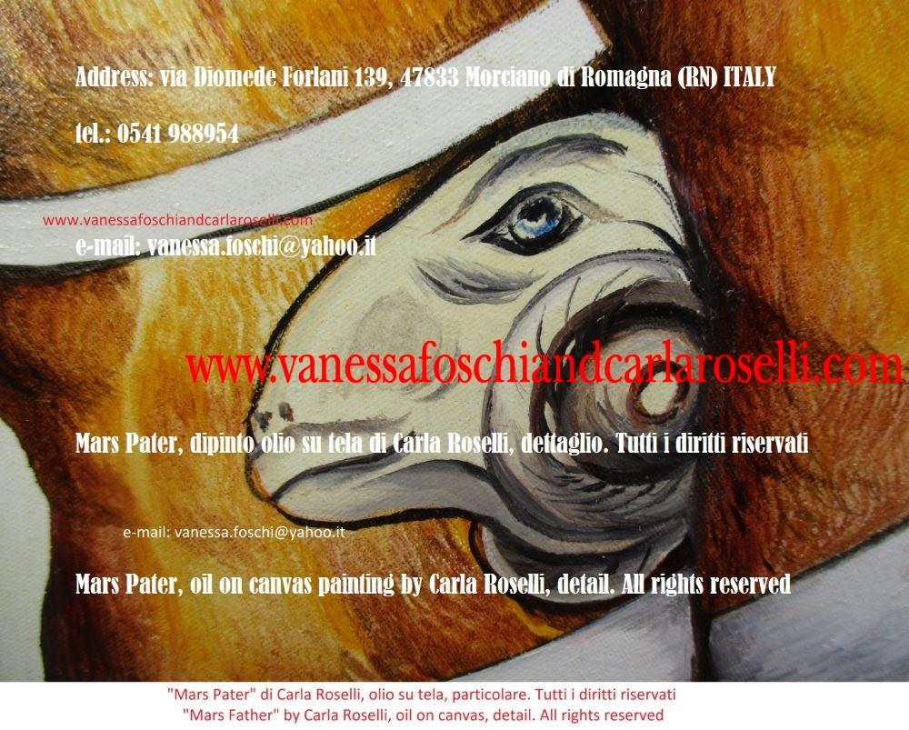 Gradivo Marte signore della guerra, colui che incede in battaglia, dipinto olio su tela di Carla Roselli, ariete- ram's head