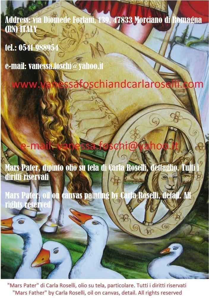 """Gradivo è epiteto cultuale di Marte e significa """"colui che conduce la carica sui campi di battaglia"""". Egli è raffigurato nel dipinto """"Mars Pater"""" di Carla Roselli . Uno degli dei latini, è il """"padre"""" del popolo romano attraverso Romolo."""