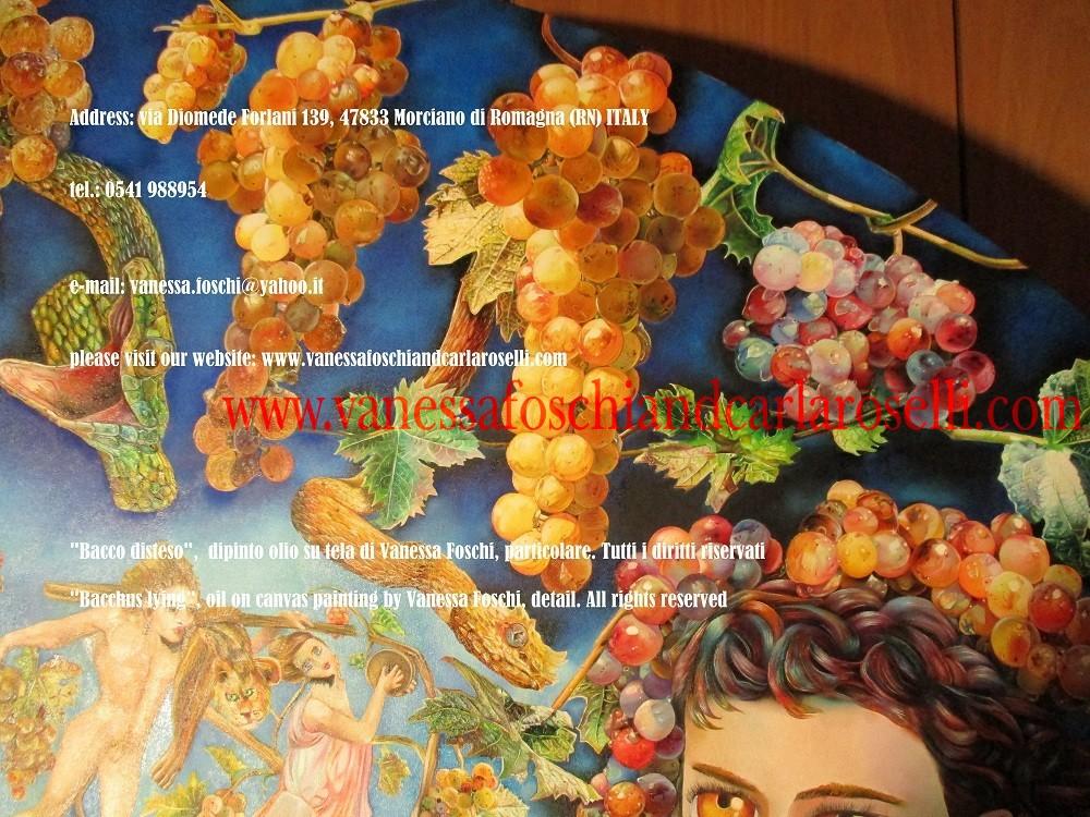 Bacco-Βάκχος-Moscatello, antico vitigno dipinto da Vanessa Foschi-muscat ancienne vigne