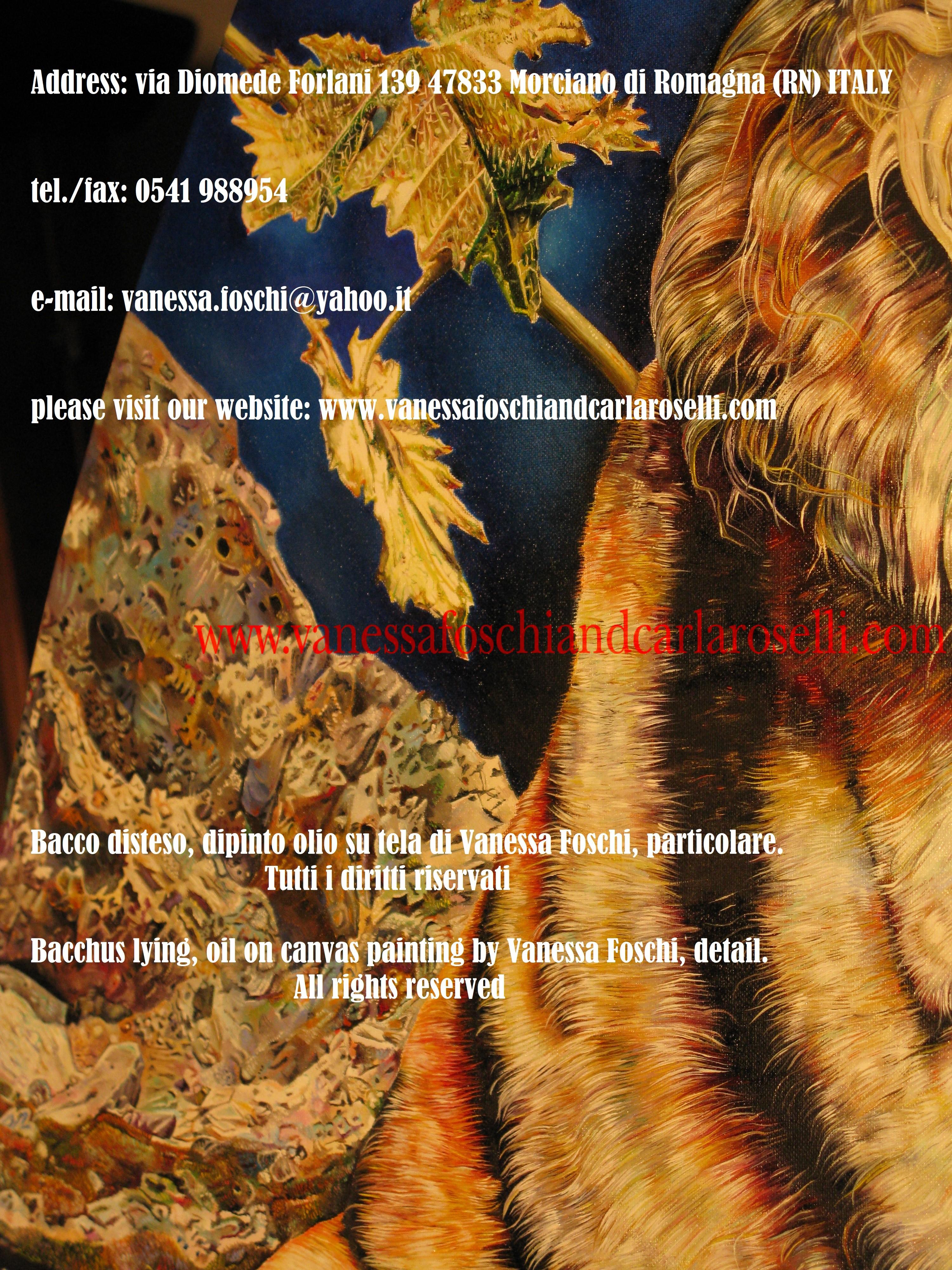 Bacco disteso, Sulla destra sono le montagne di Creta dove fu allevato da Rea/Cibele, la Gran Madre degli dei. Euripide, ( Baccanti, vv. 120-123), nei suoi celebri aristofanii, così canta il luogo: riposta dimora dei Cureti, sacrosanto, meraviglioso soggiorno, antro di Creta dove nacque Zeus.
